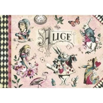 Cahier illustré Alice -...