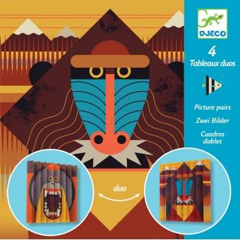 4 tableaux duos Wildlife -...