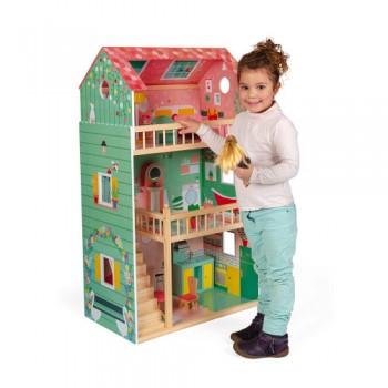 Maison de poupées en bois...