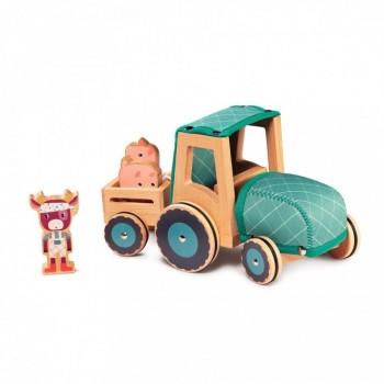 Tracteur en bois -...