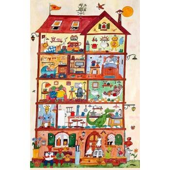 Puzzle bois Immeuble à 5...