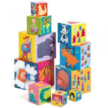 Cubes rigolos à empiler –...