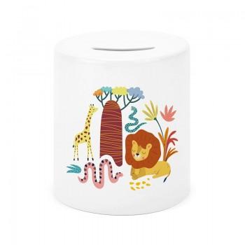 Tirelire céramique savane -...