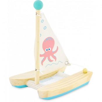 Voilier en bois : Catamaran...