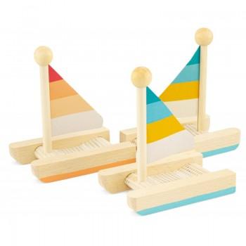 Petit catamaran en bois  -...