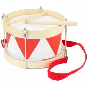 Tambour rouge et blanc -...