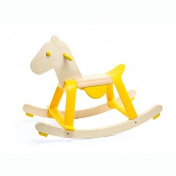 Cheval à bascule jaune - Djeco