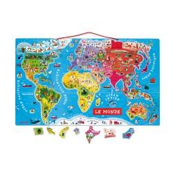 Puzzle monde magnétique –...