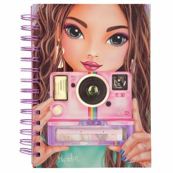 Carnet avec notes selfie...