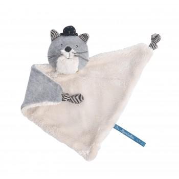 Doudou chat gris clair...