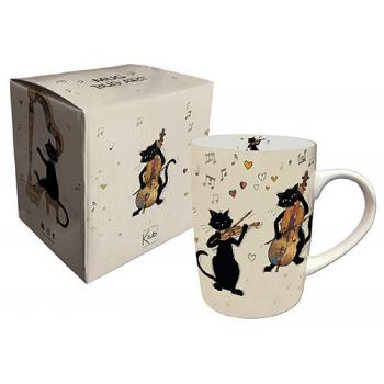 Mug chats musiciens 370ml -...