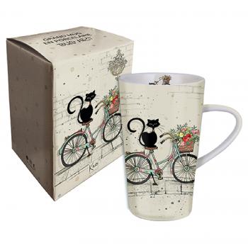 Mug xl 420ml chat vélo - Kiub