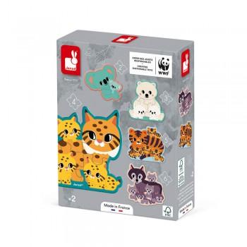5 Puzzles évolutifs animaux...