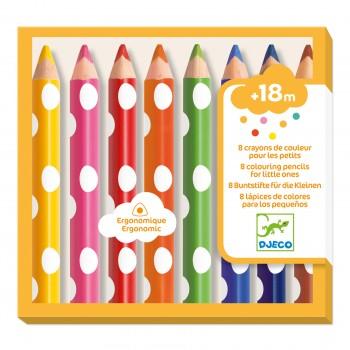 8 crayons de couleurs pour...
