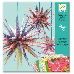 Boules de papier Kirigami -...